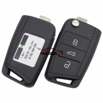 For VW original golf 7 3 button remote key 5E0 959 752 D with 434mhz ID48 chip CMIIT ID:2015DJ1678