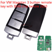 For VW Magotan 3  button remote key with ID48 chip-434mhz before 2010