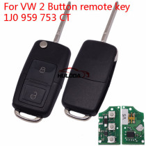 For VW 2 Button remote key 1J0 959 753 CT    with ID48 chip-434mhz