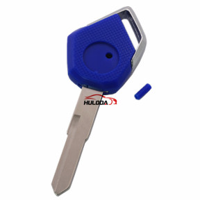 For KAWASAKI motorcycle key blank with right blade (blue)