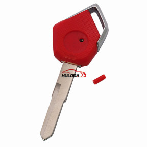 For KAWASAKI motorcycle key blank with right blade (red)