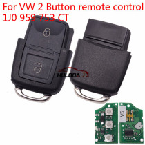 For VW 2 Button remote control 1J0 959 753 CT
