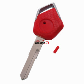 For KAWASAKI motorcycle key blank with left blade (red)
