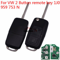 For VW 2 Button remote key 1J0 959 753 N     with ID48 chip-434mhz