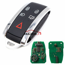 For Ford Jaguar Keyless 5 button remote key with 315mhz PCF7953A HITAG2 46 chip FCC ID: KR55WK49244