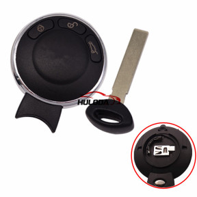 For BMW MINI 3 button remote key blank with battery clamp on back side without logo