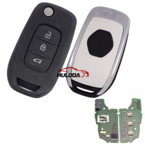 Original For Renault Kadjar/Captur 3 Button remote with 434MHZ ID46 PCF7961M Hitag AES Transponder Chip