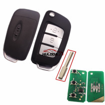 3 Button Flip Remote Key For Ford Fiesta Mondeo with 433mhz and 315mhz. Please select the frequency
