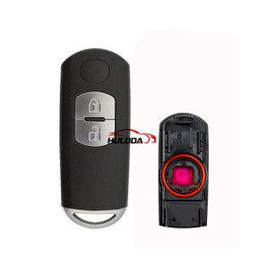 For Mazda 2 button remote key blank with blade ( 3parts)