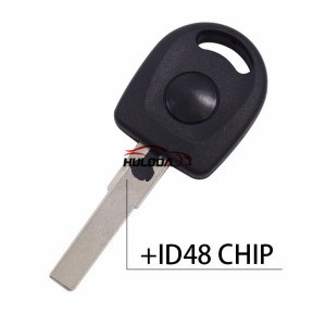 For VW Passat transponder key shell with ID48 chip without logo