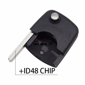 For VW  flip remote key Round head with ID48 chipRound head with ID48 chip
