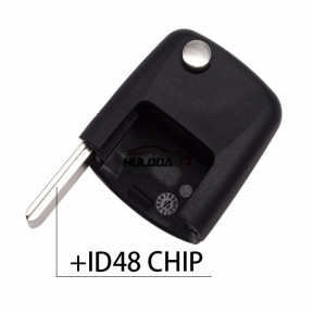 For VW  flip remote key Square  head with ID48 chip