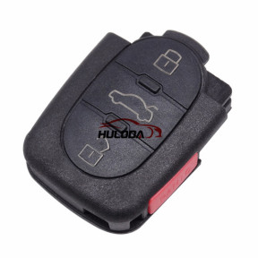 For Audi 3+1 button remote key shell without panic (1616 battery Small battery)