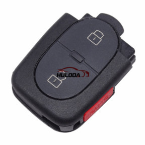 For Audi 2+1 button remote key shell with panic  (1616 battery Small battery)