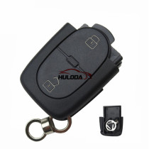 For Audi 2 button remote key shell without panic (1616 battery Small battery)