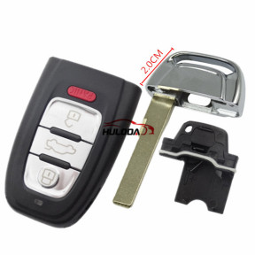 For Audi A4L and Q5 3+1button Remote key Blank with emergency Key blade