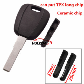 For Fiat transponder key blank -(can put TPX long chip and Ceramic chip) blank color is black ,with SIP22 blade