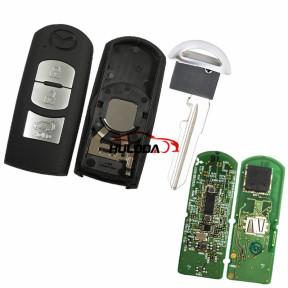 Original For Mazda 3 button remote key with 433.92mhz FSK  with PCF7953P/HITAG Pro /49 chip for Mitsubishi model SKE13E-02