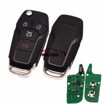 For Ford 3+1 button remote  key with Hitag pro chip-315mhz  with HU101 blade FCCID:N5F-A08TAA  made in KYZD