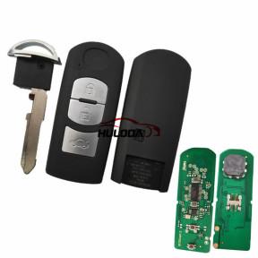 For Mazda 3 button remote key with 434mhz  with HITAG Pro 49 chip for CX-3 CX-4 Axela Atenza model:SKE13E-01 or SKE13E-02