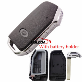 For Kia 3 button remote key blank battery holder buttons on the side