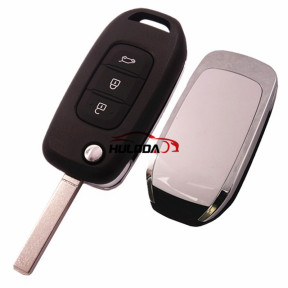 For Renault 3 button flip remote key blank with VA2&307 blade