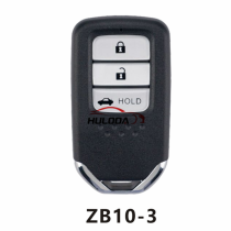 For honda style ZB10 3 button  smart remote key For  KD-X2 generate new keys ,For produce any model  remote