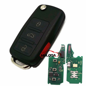 For Audi A3 3+1 button remote key with 434mhz  use in model 4E0837220, 4E0837220C, 4E0837220H
