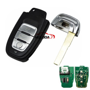 Audi A4L,Q5 3 button remote  control with 868mhz Remote System 8T0-959-754C 8K0-959-754G 8T0-959-754G 8KO-959-754J 8KO-959-754C