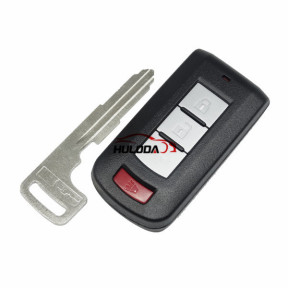 For Mitsubishi 2+1  button remote key blank with emergency key blade