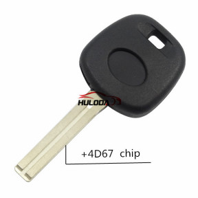 For Lexus transponder key with 4D67 chip(TOY40  Long Blade)