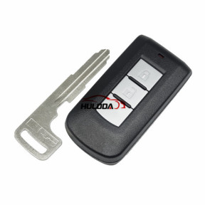 For Mitsubishi 2 button remote key blank with emergency key blade