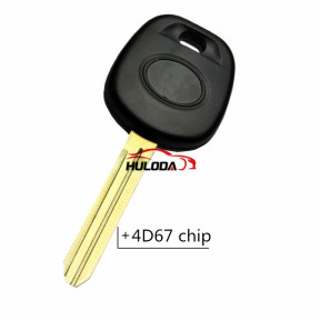 For Toyota transponder key with Version 4D67 chip (Soft plastic handle and cupronickel key blade)