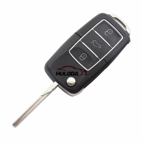 For VW 3 button  waterproof  remote key blank with Black color