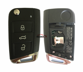 KYDZ smart MQB Style 3 button remote key with pcf7942 HITAG2 46 chip 433MHZ