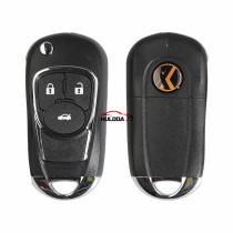 XHORSE VVDI English Version 3 Buttons  XKBU03EN for Buick Style Wire Universal Remote Key  for VVDI Key Tool VVDI2