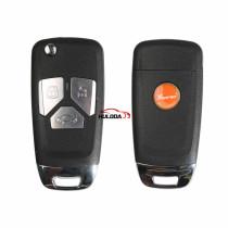 XHORSE VVDI for Audi Style Universal Flip Remote Key With 3 Button  Wireless XKAU01EN