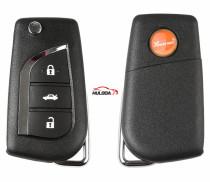 XHORSE XNTO00EN For Toyota Style 3 button Wireless Universal Remote Key