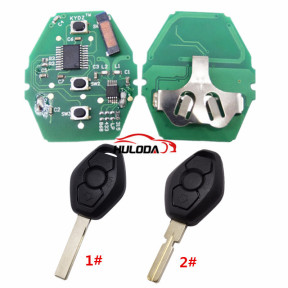For BMW 5 Series CAS2 systerm 3 button remote key with 2 track blade and 4 track blade you can choose  315-LPmhz PCF7945chips