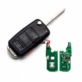 For Audi A8 3+1 button flip Remote key with 433Mhz