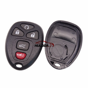 For GMC 4+1 button remote key blank With Battery Place