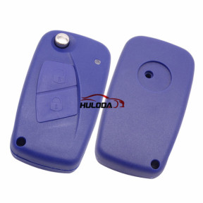 For Fiat 2 button remtoe key blank with special battery clamp Blue color