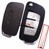 For Ford Focus Fiesta C Max Galaxy Kuga S-Max Modified 3 Button New Folding Flip Remote Key Shell