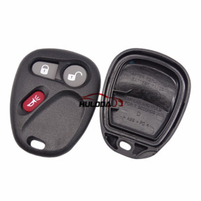 For GMC 2+1 button remote key blank Without Battery Place