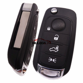 For Fiat 3 button flip remote key blank with SIP22 without logo