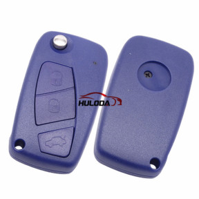 For Fiat 3 button remtoe key blank with special battery clamp Blue color