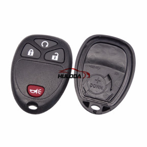For GMC 3+1 button remote key blank With Battery Place