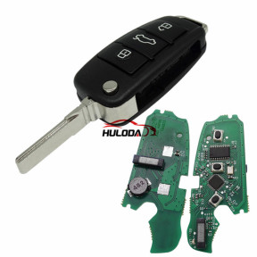 For Audi Keyless MQB 3B flip remote key with ID48 chip-434mhz ASK model