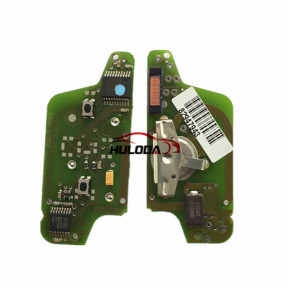 For Peugeot original 2 Button Flip Remote Key  433mhz (battery on PCB) FSK model  with 46 chip with VA2 and HU83 blade , please choose the key shell