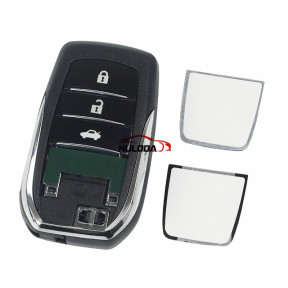 For Toyota Fortuner Prado Camry Rav4 Highlander Crown Smart  Keyless Case Housing 3 Buttons Remote Key Fob Shell,(with 2 logo buttons)